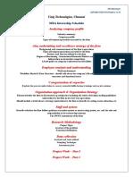 MBA Internship- UNIQ Technologies
