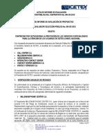 Acta Evaluacion Selección Pública 004 - 2012
