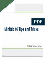 Minitab 16 Tips and Tricks