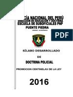 Silabo Doctrina Policial 2016