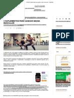 Confira 5 Suplementos Para Ganhar Massa Muscular! - NatueLife
