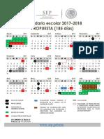 Calendario Escolar 2017-2018 185 y 195