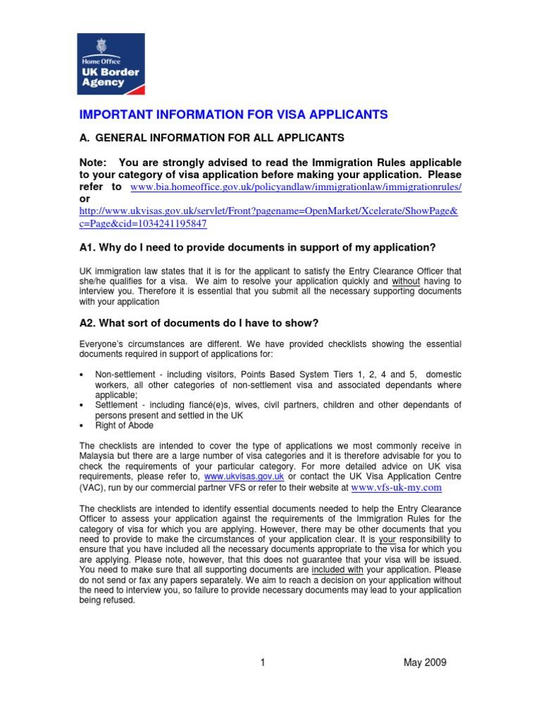 Important Information for Uk Visa Applicants | Travel Visa | Passport