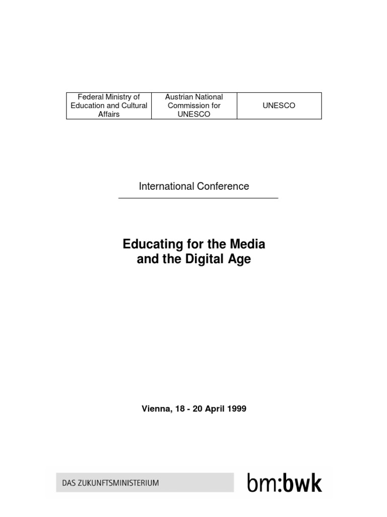 Report Educating For The Media And Digital Age Unesco Ocean Park Fast Track Admission Package Anak 3 11 Thn Conference Mass Violence