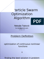 The Particle Swarm Optimization Algorithm