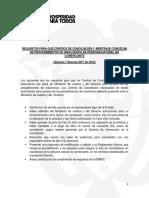 Requisitos para que los centros de conciliaci¢n y arbitraje conozacan de insolvencia