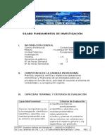 Sílabo Fundamentos de Investigación