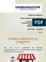 ESTABLECIMIENTOS DE COMERCIO