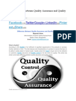 10 Difference Between Quality Assurance and Quality Control