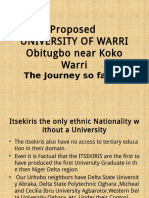 Proposed University of Warri