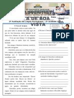 avaliação PORTUGUÊS revisar