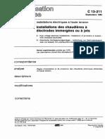 NF C13-211 Chaudière