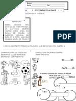 Atividade Avaliativa de Linguage1 2 Unidade g4