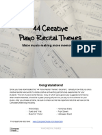 Piano Recital Themes
