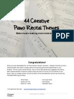 Piano Recital Themes