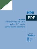 Inhibidores de uso de las TIC en la sociedad española