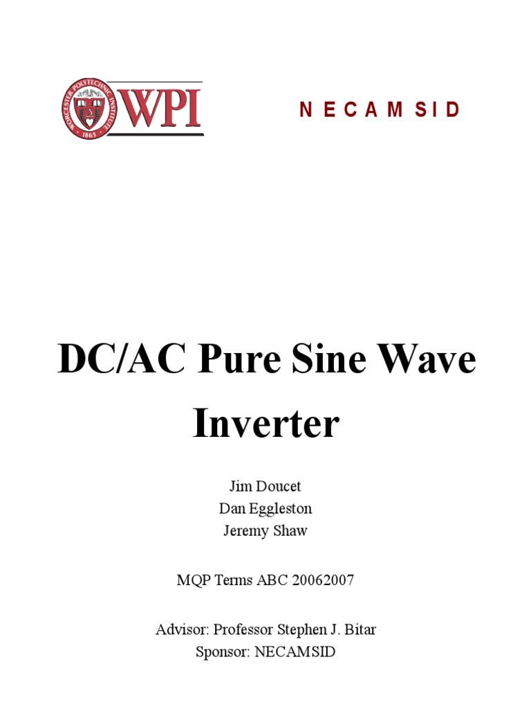Dcac Pure Sine Wave Power Inverter Field Effect Transistor Schematic Generator Circuit Diagram