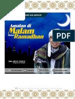 Amalan Di Malam Bulan Ramadhan
