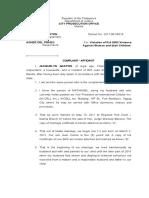 Complaint Affidavit- Economic Abuse