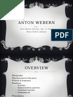 A. Webern - Drei Kleine Stucke, Op.11 No.1