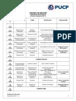 Calendario de Prácticas 2017-1