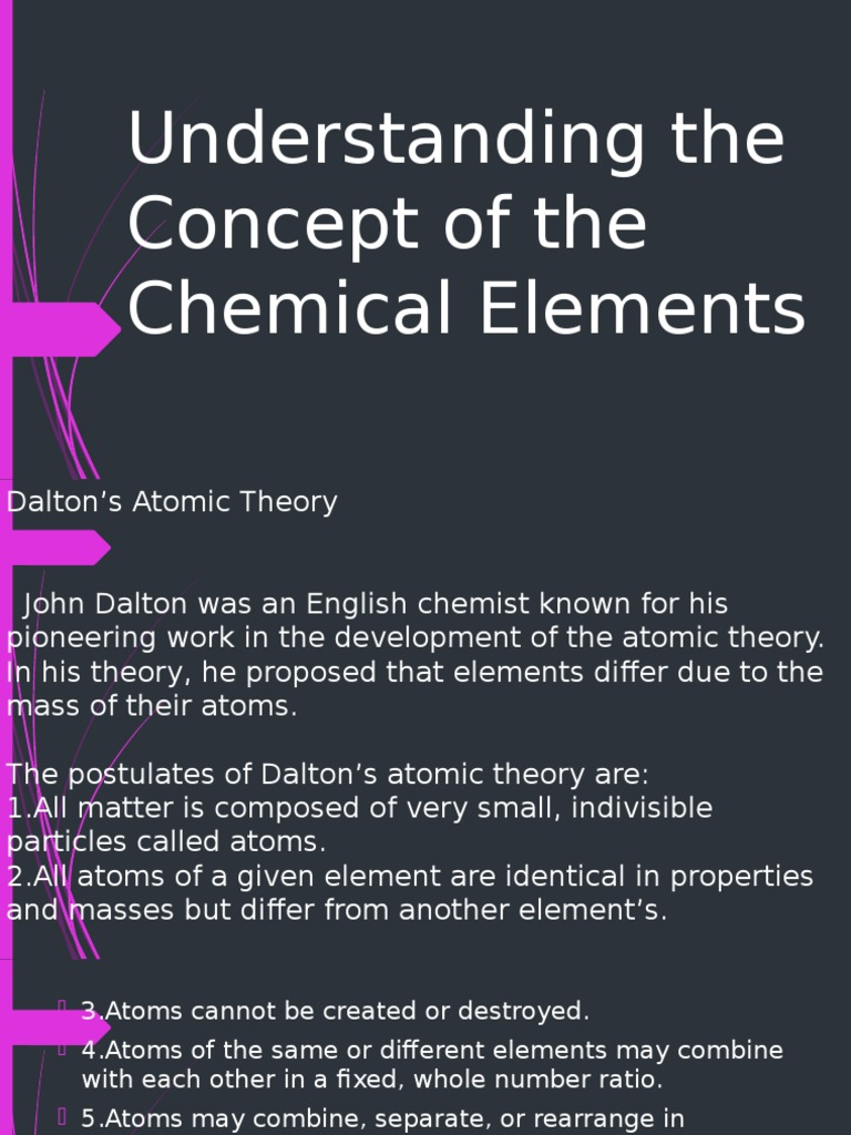 Understanding the concepts of chemical elements ppt chemical understanding the concepts of chemical elements ppt chemical elements atoms urtaz Gallery
