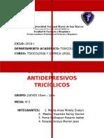 BARBITURICOS y Antidepresivos Triciclicos (1)