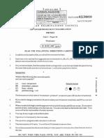 cape Physics unit 2 paper 1