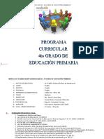 Planificacion Curricular Del 4º Grado