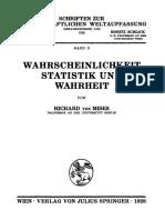 R._von_Mises__Wahrscheinlichkeit Statistic Und Wahrheit (1928)
