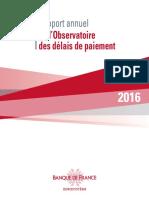 Observatoire Des Délais de Paiement 2016