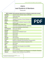 PEFC-endorsed national certification systems and members