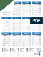 calendario pra 2025