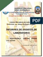 ENSAYOS DE MECÁNICA DE  SUELOS
