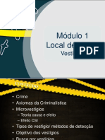 Aula de Local de Crime 1 - Microvestígios