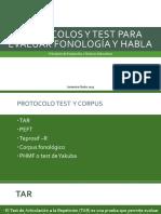 Protocolos y Test Para Evaluar Fonología y Habla