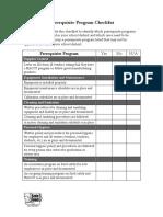 0506 Np Fs Haccp Processapproachpt1 Hndout Prerequisitechklst