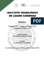 Angulos RPY y Euler