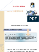 3. Derecho Aduanero. Sujetos de La Obligación Aduanera.