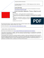 Regional Innovation Systems Theory Empirics and Policy