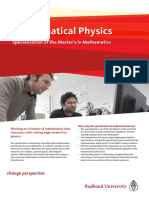 Masterflyer Mathematical Physics