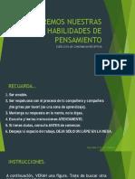 ACTIVIDAD 1 CONSTANCIA VISUAL DE LA FORMA 5°B - 4°M