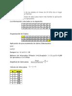 Trabajo Estadística. Datos Agrupados