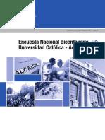 Resultados Encuesta Bicentenario Uc Adimark 2012