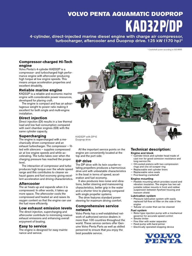 kad32p dp diesel engine turbocharger rh es scribd com 04 Volvo S40 Manual Volvo Manual Trans