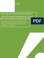 Selecting and Implementing an Effective Time and Expense Management Solution