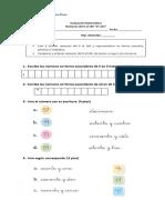 Evaluación Matemática n° 1