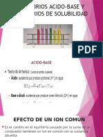 Equilibrios Acido-base y Equilibrios de Solubilidad