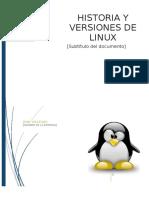 Historia y Versiones de Linux