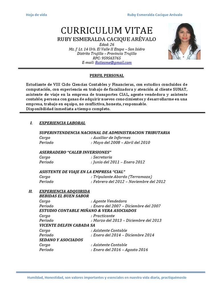 Atractivo Currículum Para Estudiante De Contabilidad Ilustración ...
